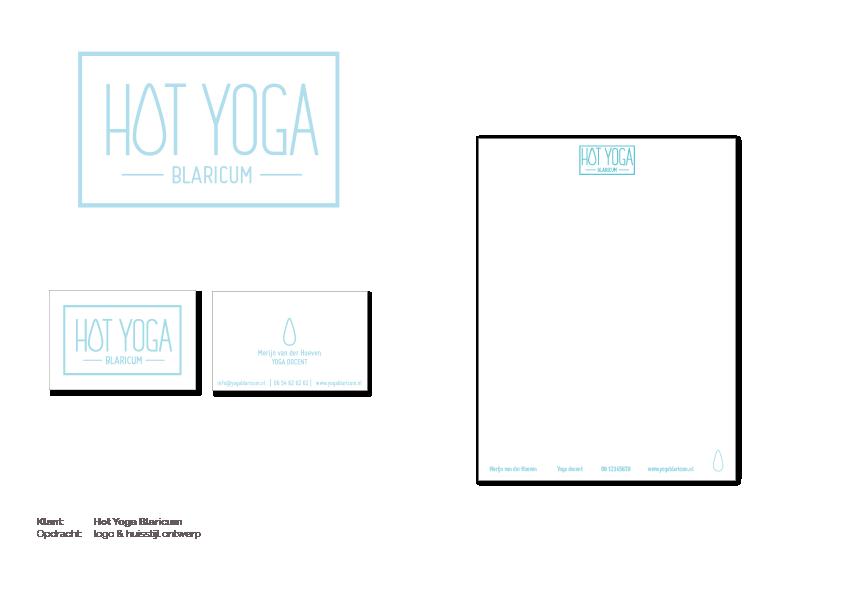 Huisstijl Hot Yoga