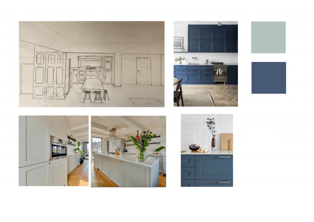 Helderheid vorm en kleur keuken