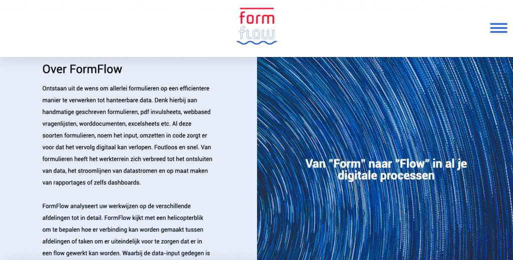 Design FormFlow website